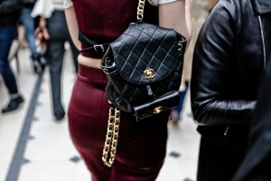 chanel bag gold ang black